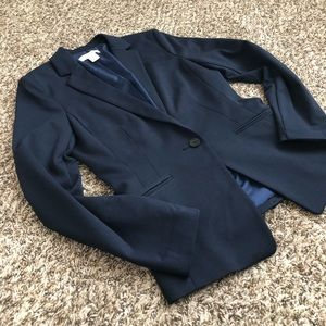 H&M Navy Blazer - Fully Lined with Button Size 6